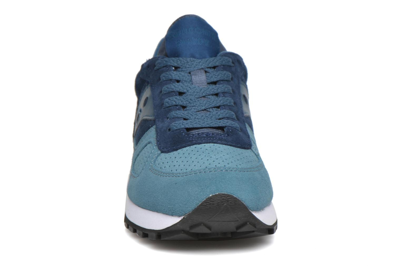 Sneaker Saucony Shadow Original Suede W blau schuhe getragen