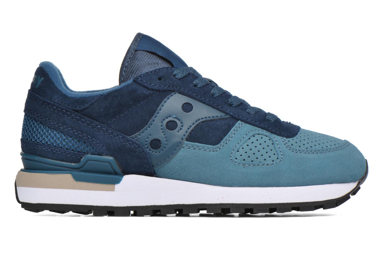 Sneaker Saucony Shadow Original Suede W blau ansicht von hinten
