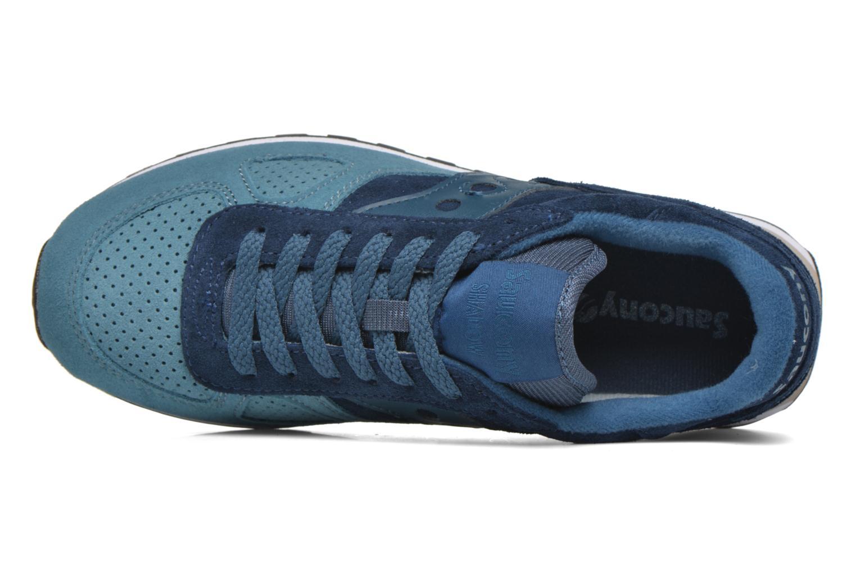 Sneaker Saucony Shadow Original Suede W blau ansicht von links