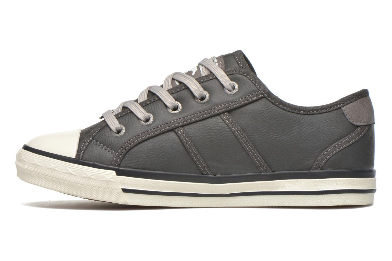 Sneaker Mustang shoes Pluy grau ansicht von vorne