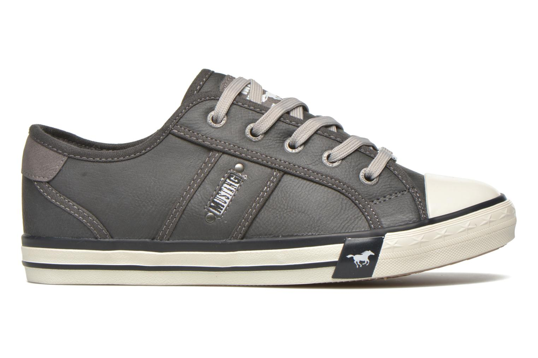 Sneaker Mustang shoes Pluy grau ansicht von hinten