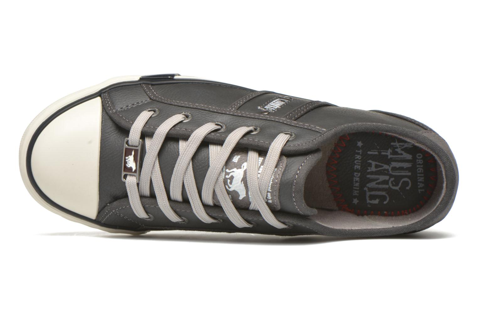 Trainers Mustang shoes Pluy Grey view from the left