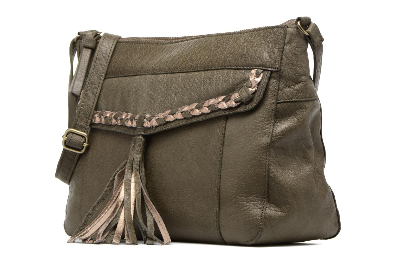 Handbags Pieces POFO Leather Crossbody bag Green model view