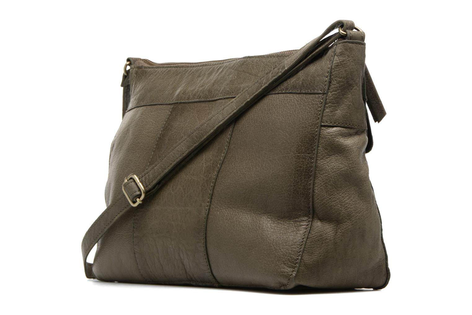 Handbags Pieces POFO Leather Crossbody bag Green view from the right