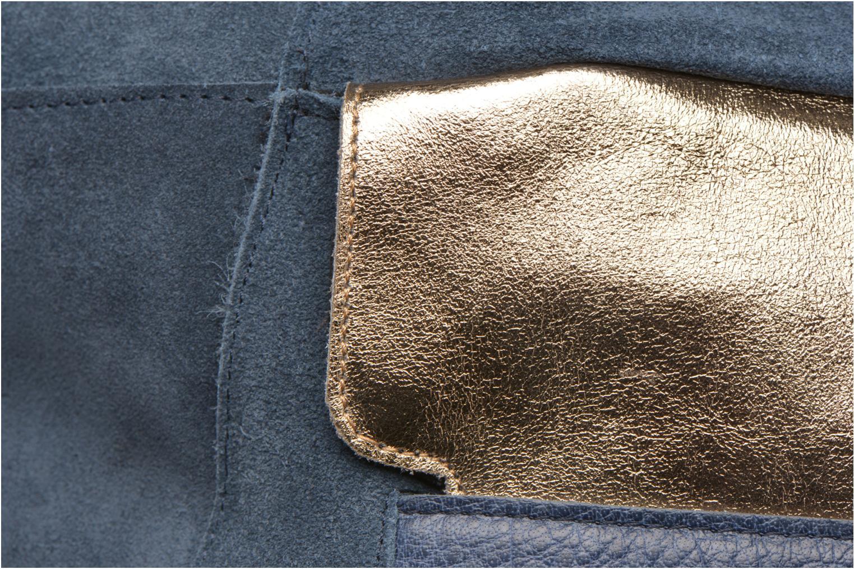 Sacs à main Pieces PIXA Suede bag Bleu vue gauche