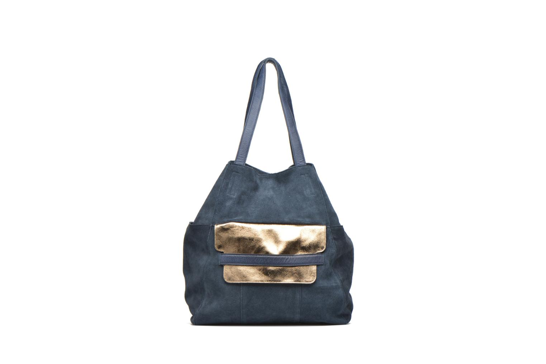 Sacs à main Pieces PIXA Suede bag Bleu vue détail/paire
