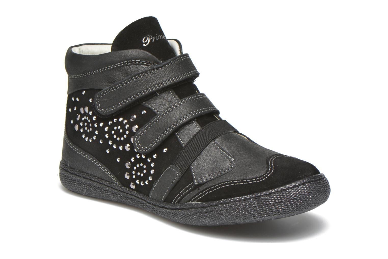 Velcro shoes Primigi Hulda 2-E Black detailed view/ Pair view