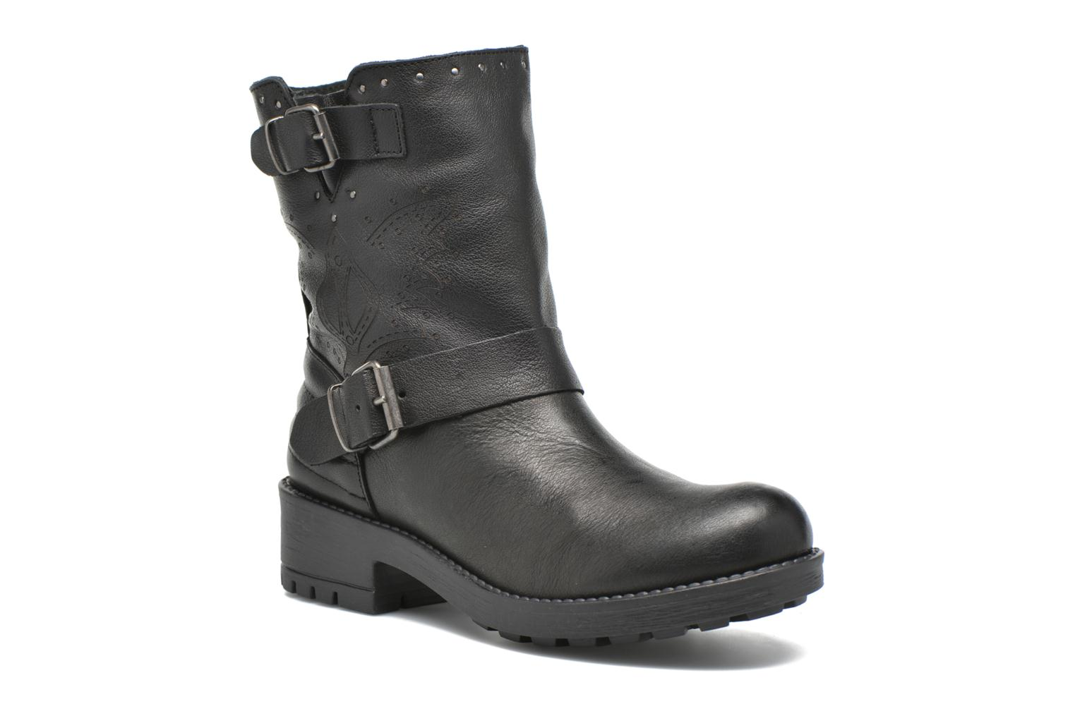 Ankle boots Coolway Barlow Black detailed view/ Pair view