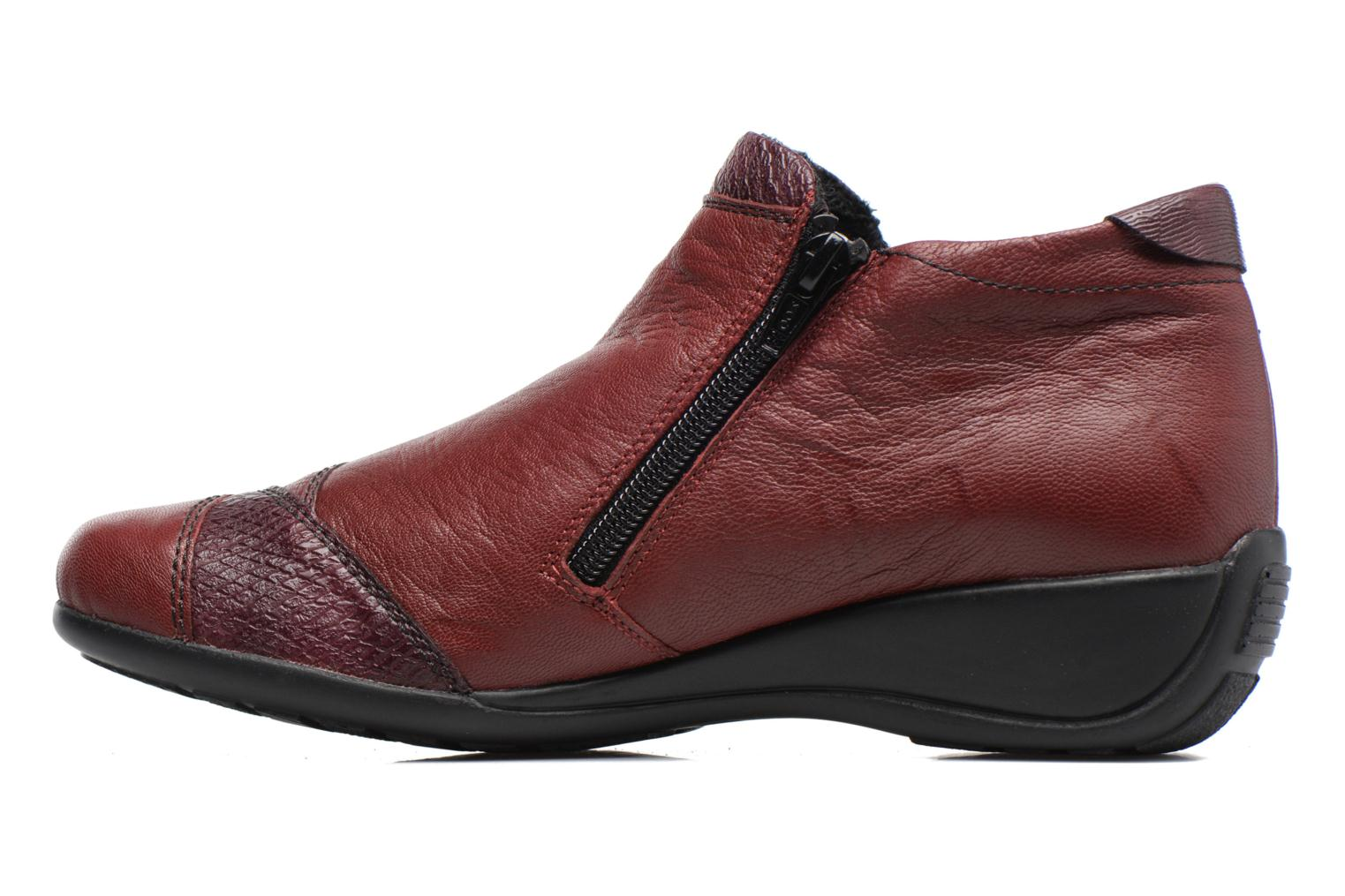 Ankle boots Remonte Laure R9883 Burgundy front view