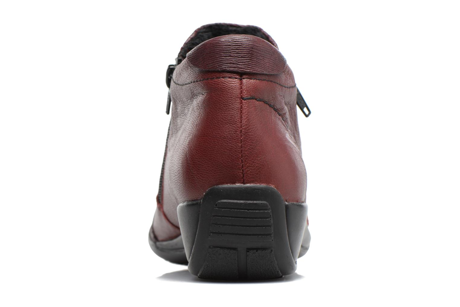 Ankle boots Remonte Laure R9883 Burgundy view from the right