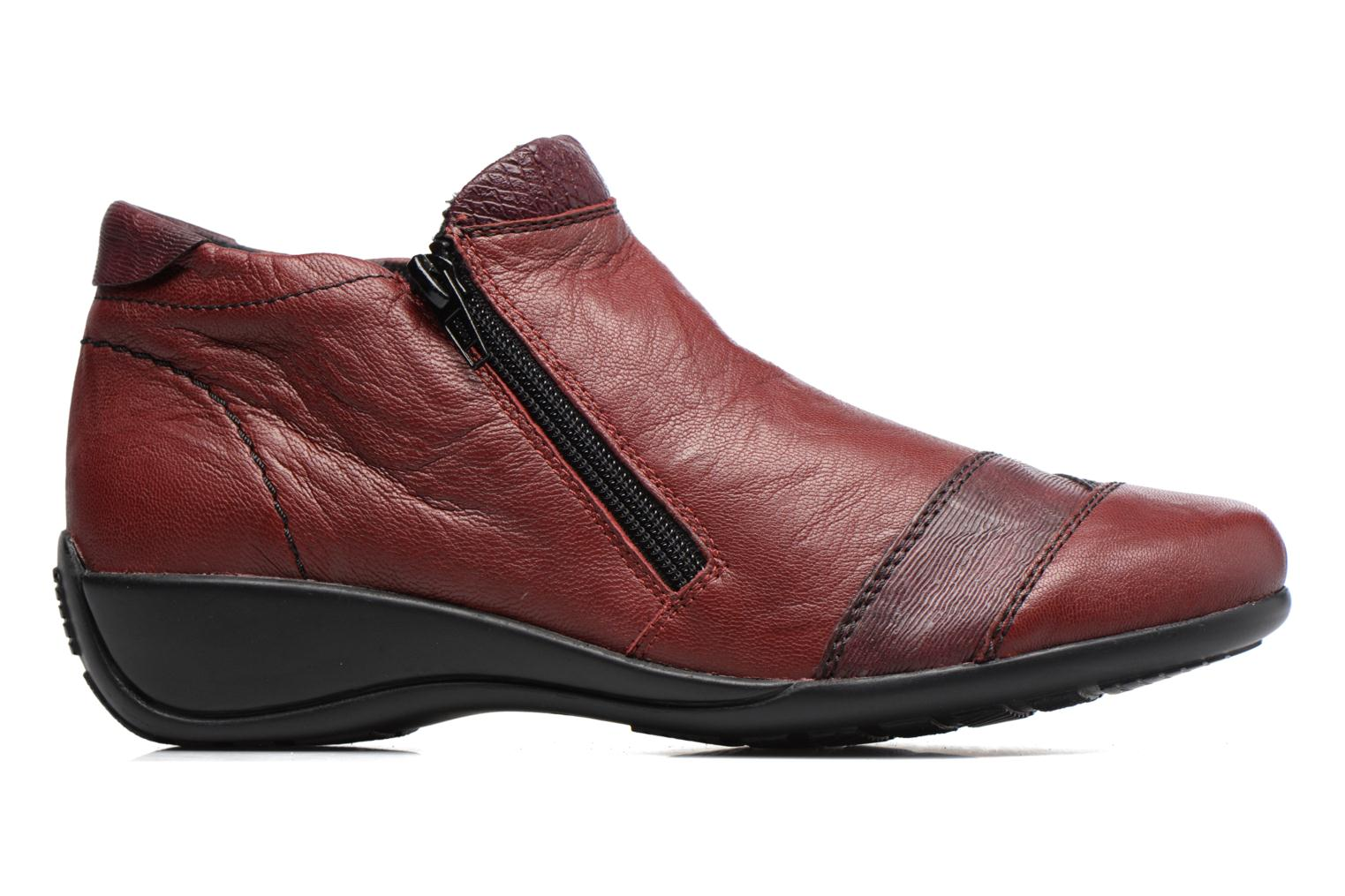Ankle boots Remonte Laure R9883 Burgundy back view