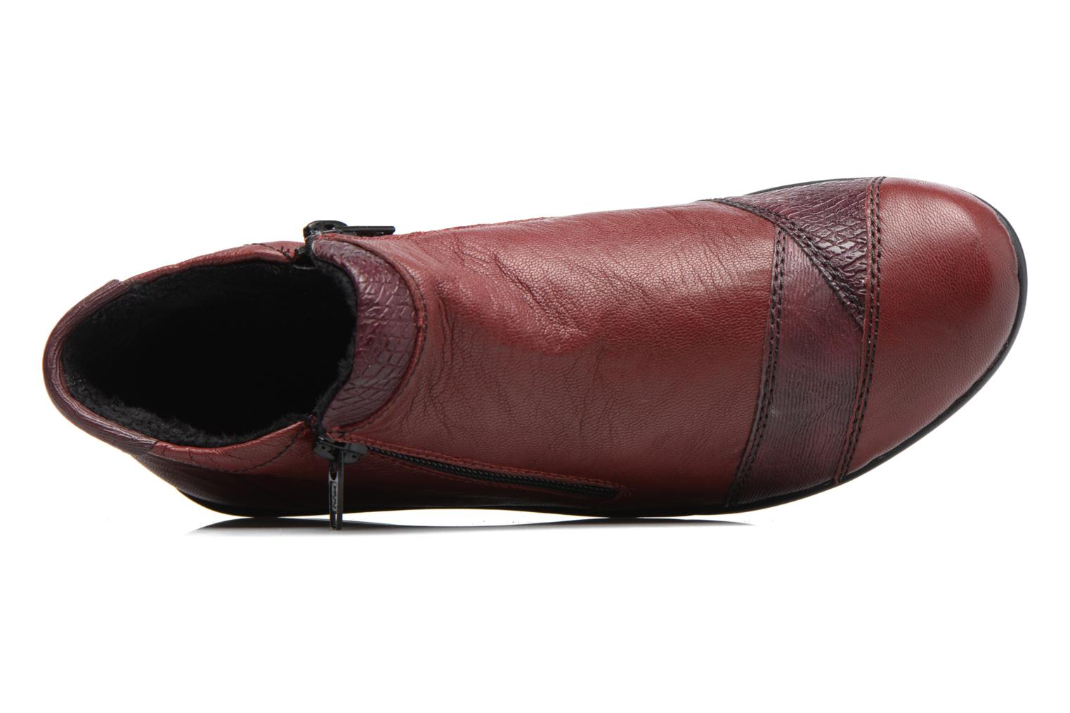 Ankle boots Remonte Laure R9883 Burgundy view from the left