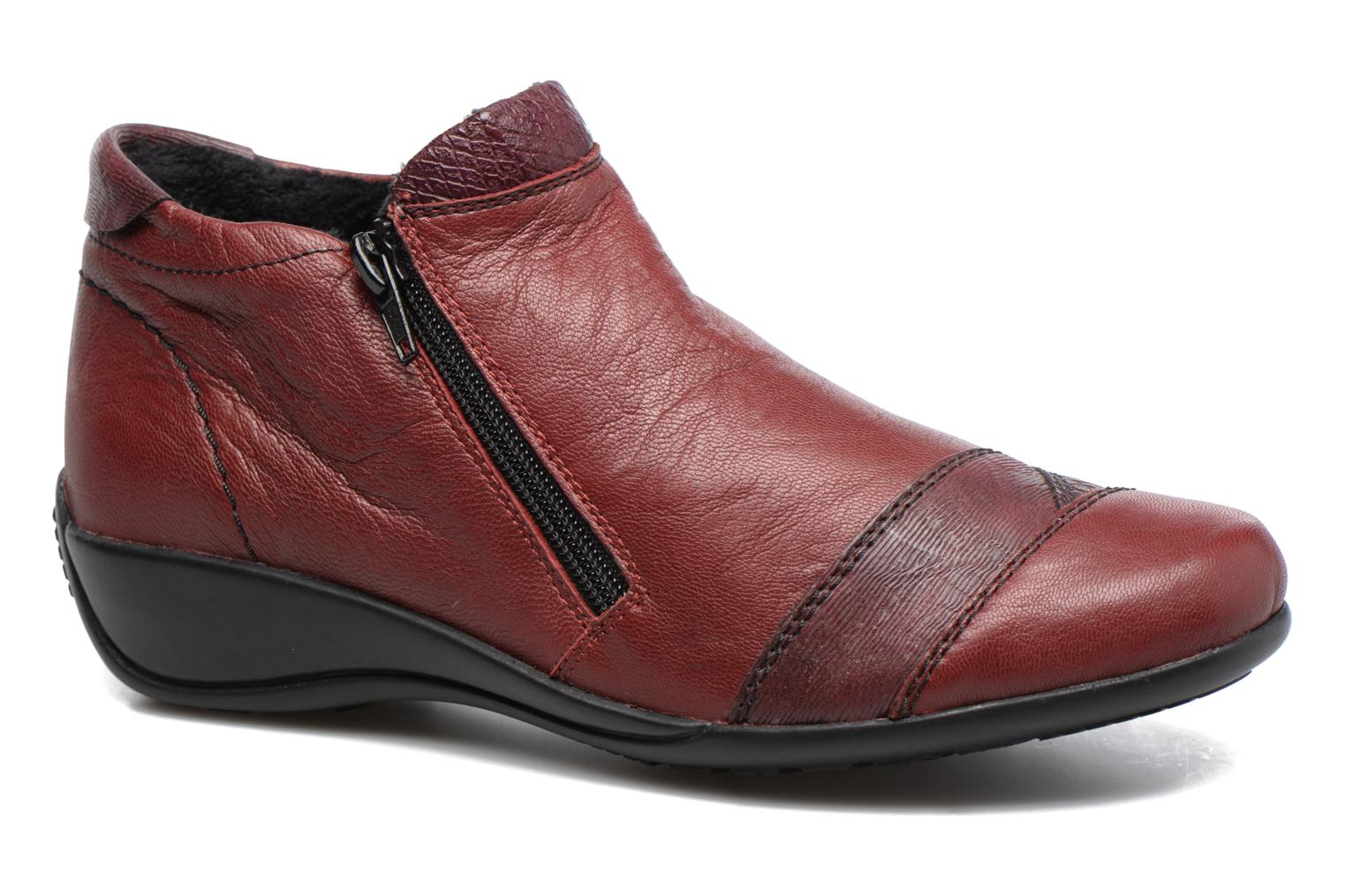 Ankle boots Remonte Laure R9883 Burgundy detailed view/ Pair view
