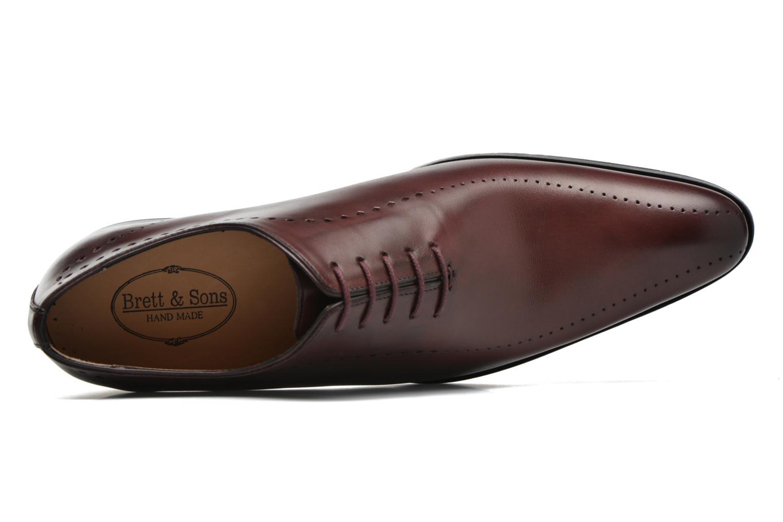 Chaussures à lacets Brett & Sons Raya Bordeaux vue gauche