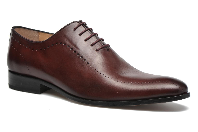 Chaussures à lacets Brett & Sons Raya Bordeaux vue détail/paire