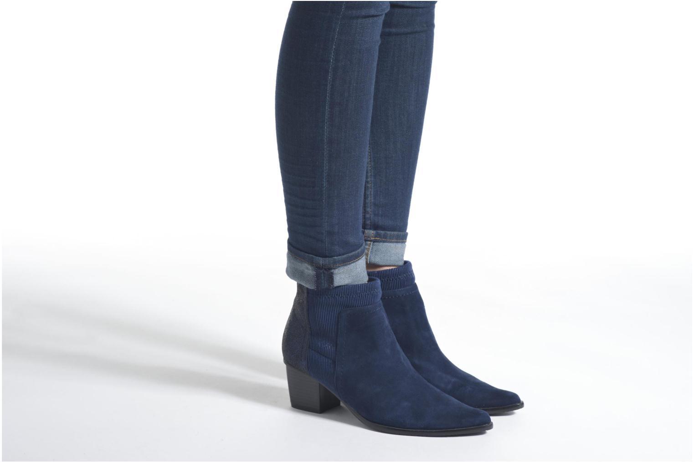 Bottines et boots Madison AYAM *Mul Ch Velour OCEAN Bleu vue bas / vue portée sac