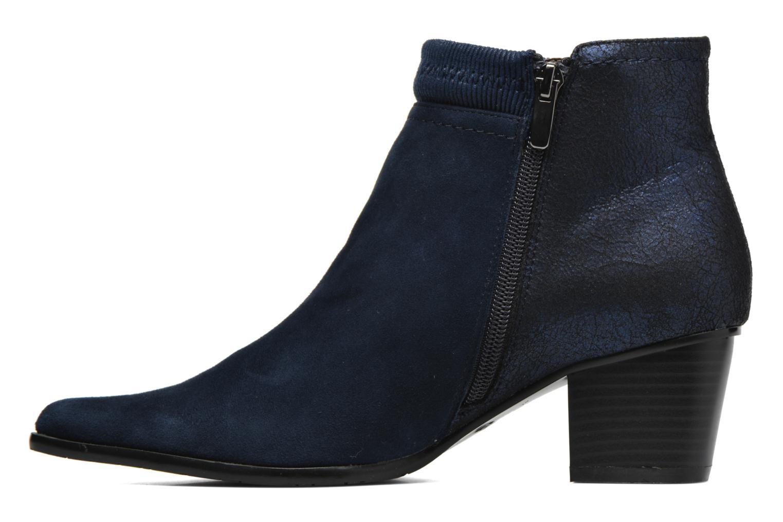 Bottines et boots Madison AYAM *Mul Ch Velour OCEAN Bleu vue face