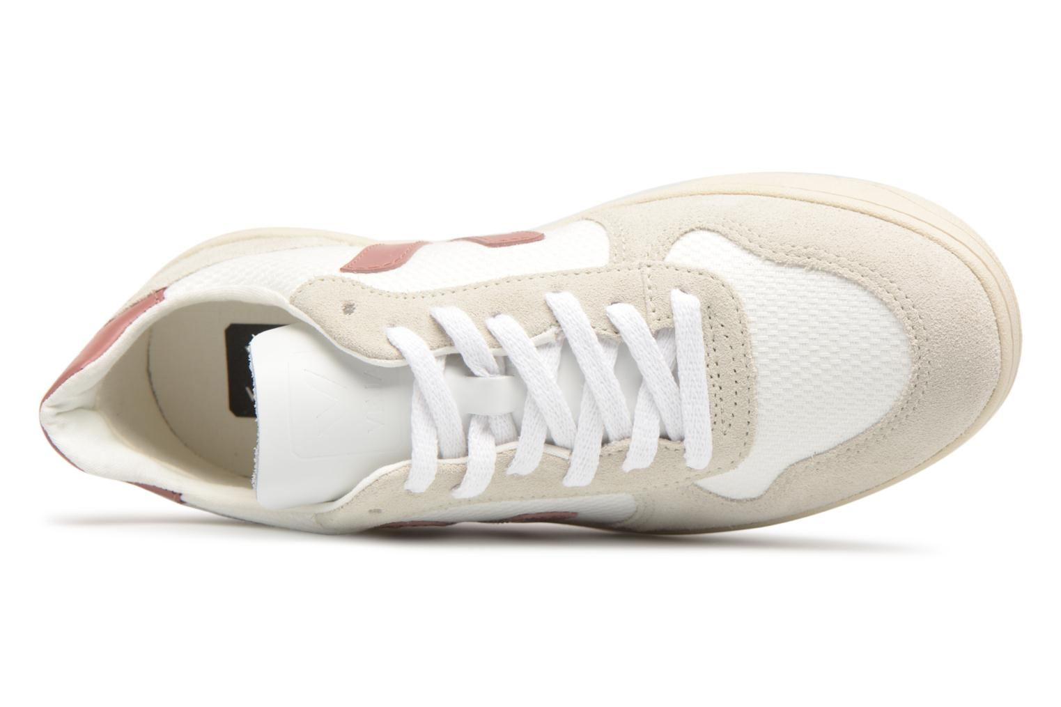 Trainers Veja V-10 W Pink view from the left