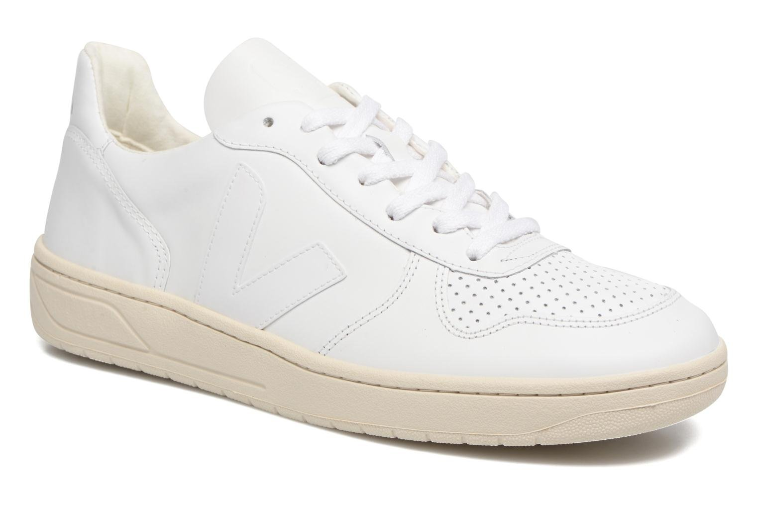 Trainers Veja V-10 White detailed view/ Pair view