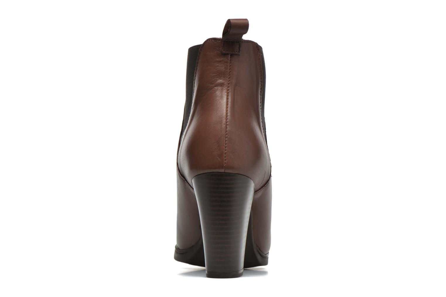 Ankle boots Karston UBAK *Veau HAVANE ~1ere.CUIR Brown view from the right