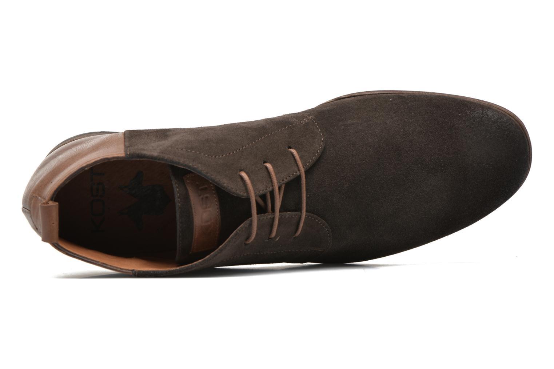 Zapatos con cordones Kost Zepi76 Marrón vista lateral izquierda