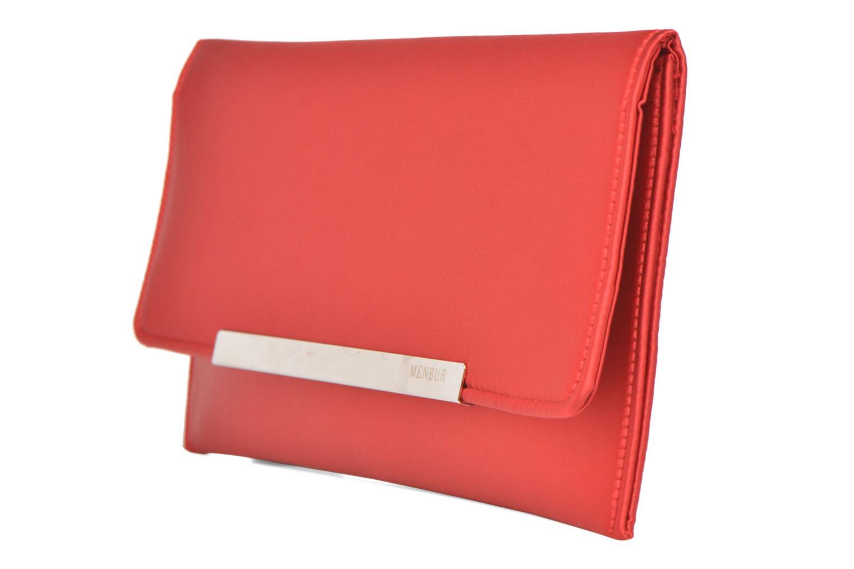 Handtaschen Menbur Pochette satin rot schuhe getragen