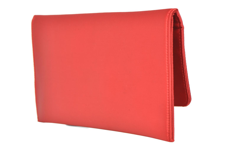 Handtaschen Menbur Pochette satin rot ansicht von rechts