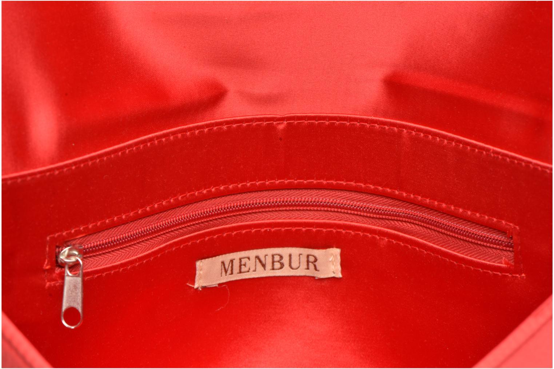 Handtaschen Menbur Pochette satin rot ansicht von hinten