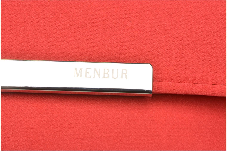 Handtaschen Menbur Pochette satin rot ansicht von links
