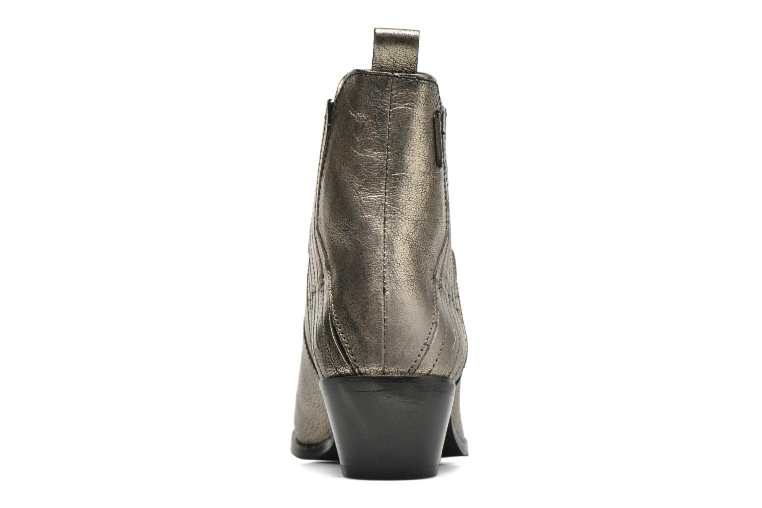 Ankle boots Pepe jeans Dina New Metal Bronze and Gold view from the right