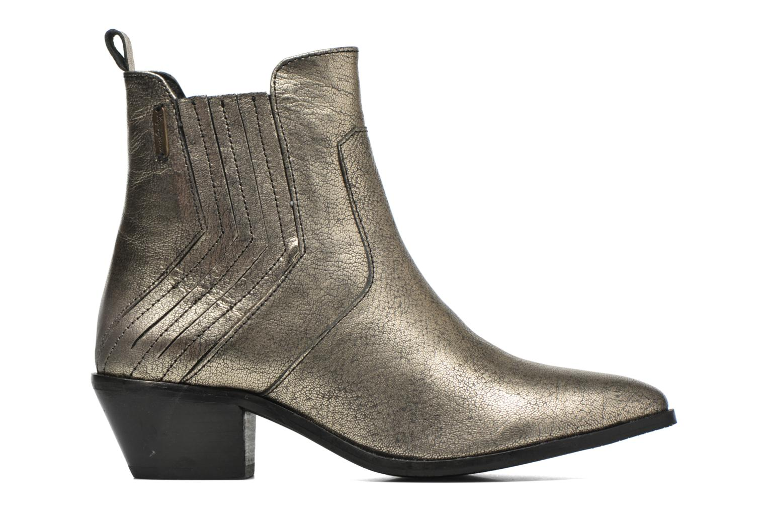 Ankle boots Pepe jeans Dina New Metal Bronze and Gold back view