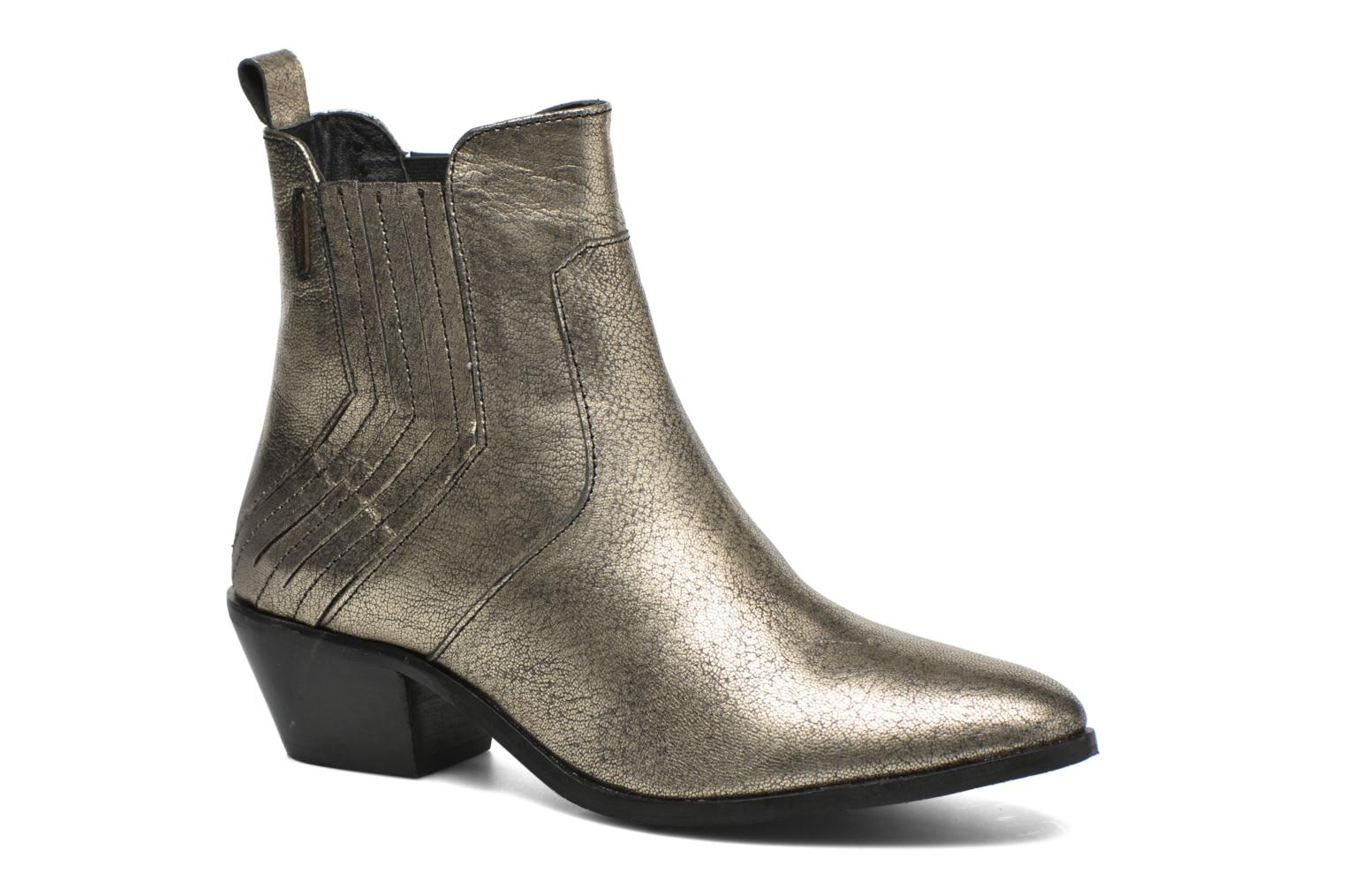 Ankle boots Pepe jeans Dina New Metal Bronze and Gold detailed view/ Pair view
