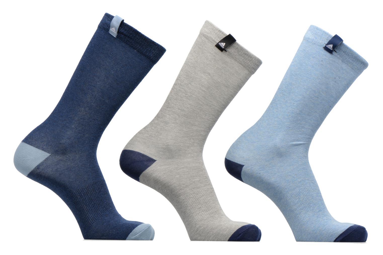 Chaussettes et collants Adidas Performance PER LA CREW T3P Bleu vue détail/paire
