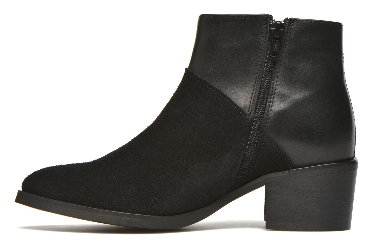 Ankle boots Pieces Dabai Leather Boot Black front view