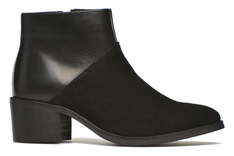 Bottines et boots Pieces Dabai Leather Boot Noir vue derrière