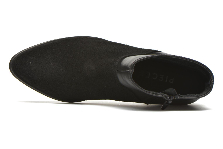 Bottines et boots Pieces Dabai Leather Boot Noir vue gauche