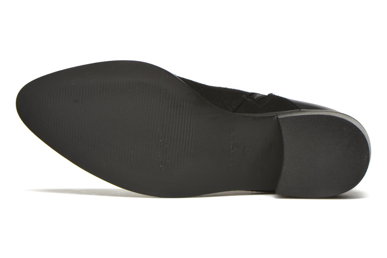 Bottines et boots Pieces Dabai Leather Boot Noir vue haut