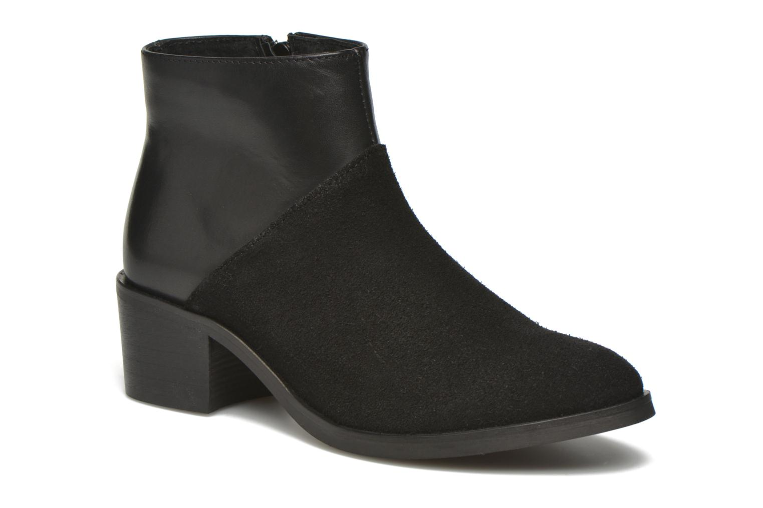 Ankle boots Pieces Dabai Leather Boot Black detailed view/ Pair view