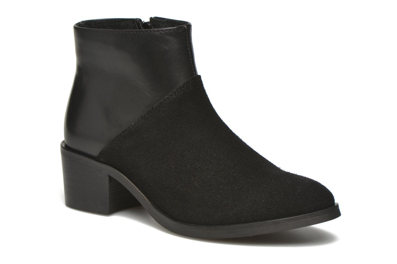 Bottines et boots Pieces Dabai Leather Boot Noir vue détail/paire