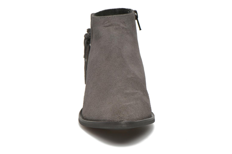 Bottines et boots Pieces Derika Leather Boot Gris vue portées chaussures