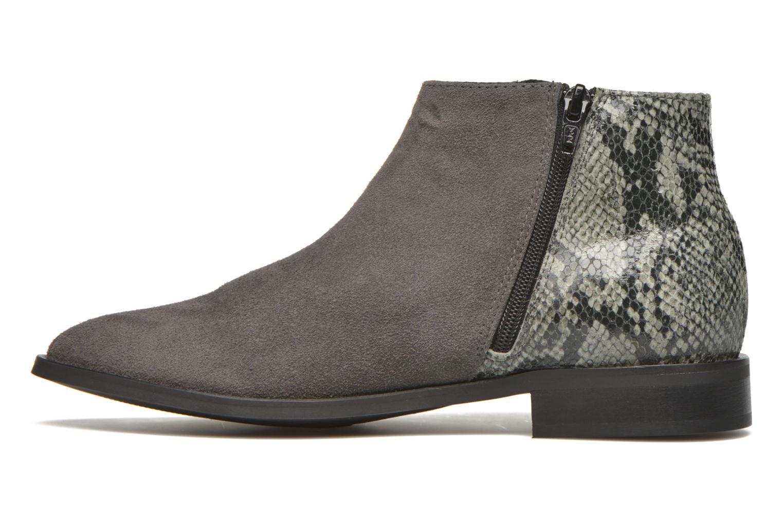 Bottines et boots Pieces Derika Leather Boot Gris vue face