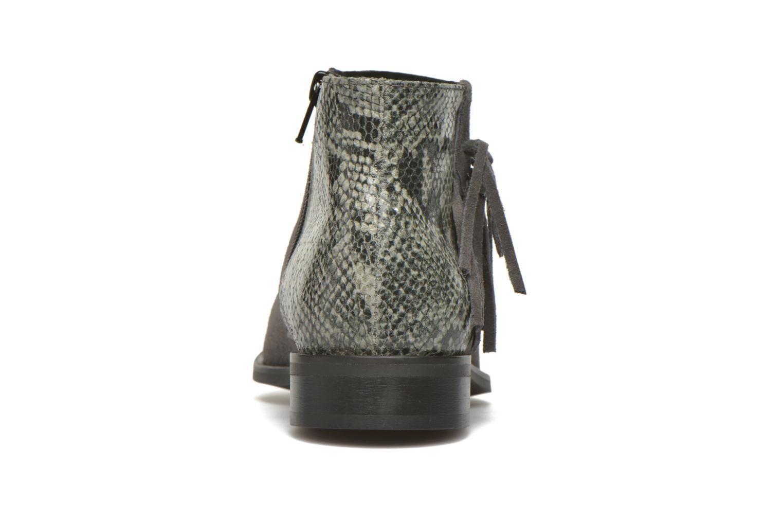 Bottines et boots Pieces Derika Leather Boot Gris vue droite