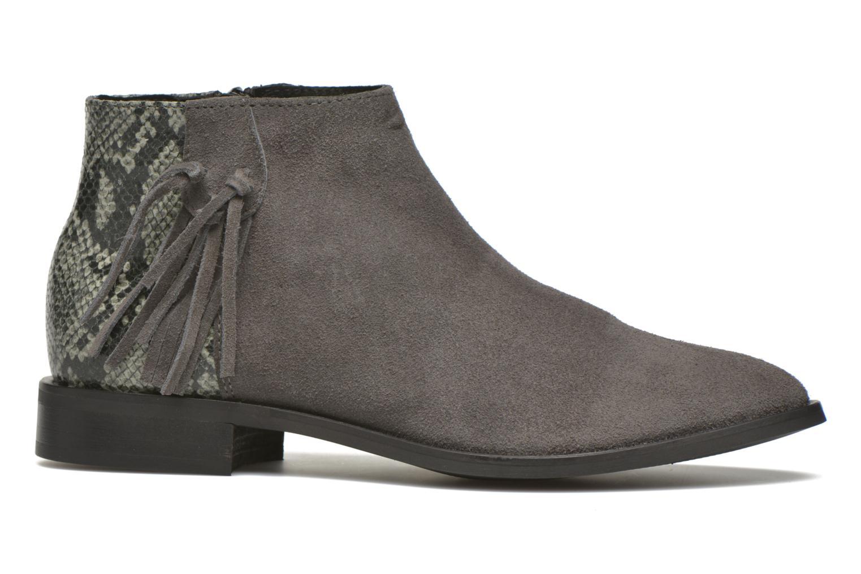 Bottines et boots Pieces Derika Leather Boot Gris vue derrière