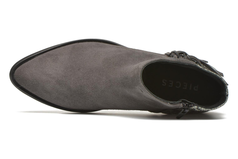 Bottines et boots Pieces Derika Leather Boot Gris vue gauche