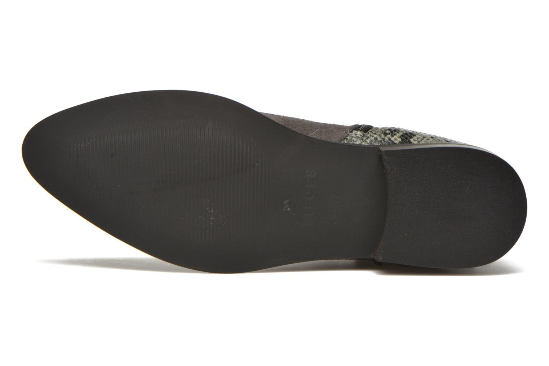 Bottines et boots Pieces Derika Leather Boot Gris vue haut