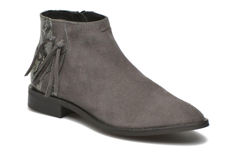 Bottines et boots Pieces Derika Leather Boot Gris vue détail/paire