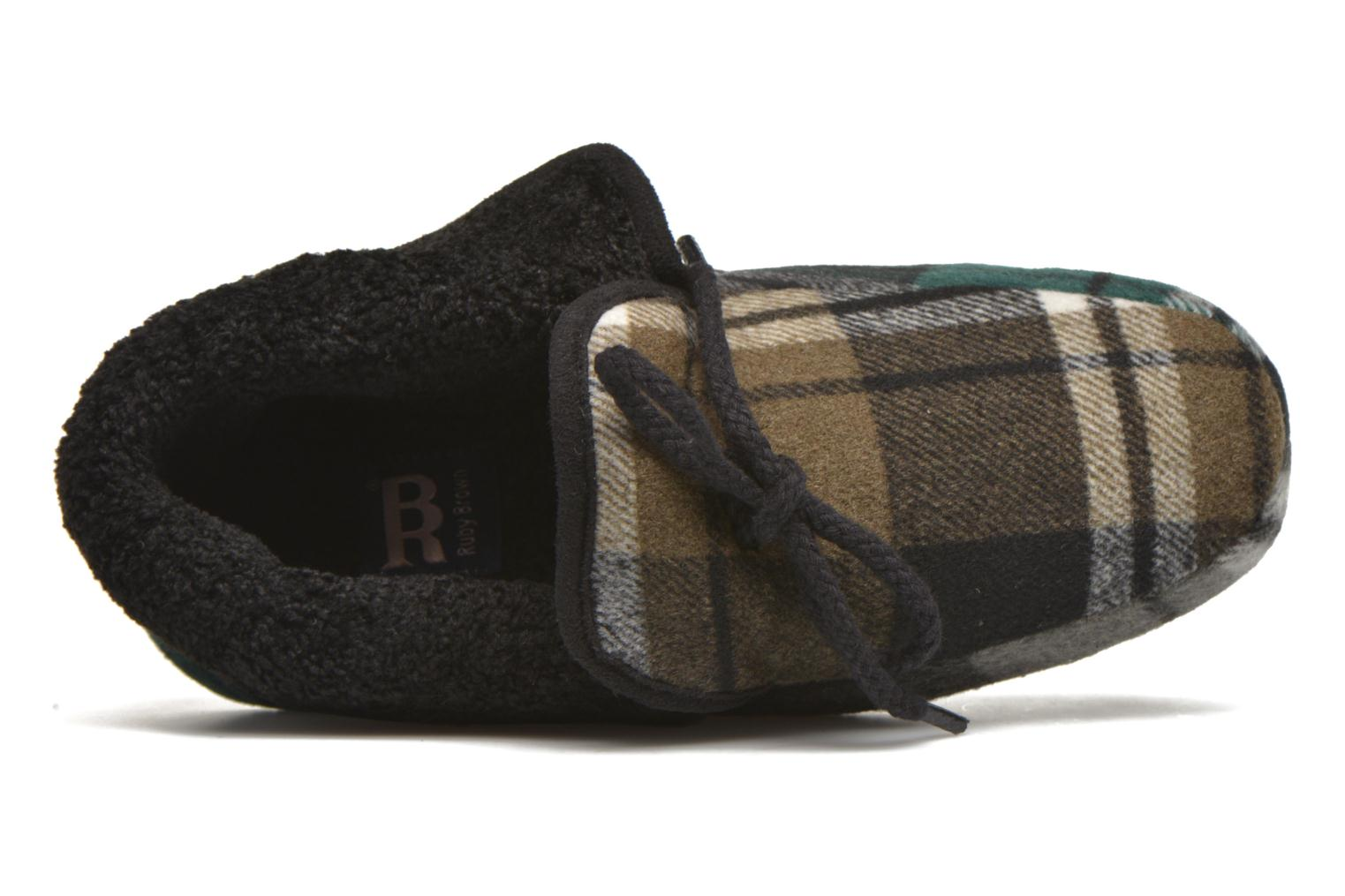 Slippers Ruby Brown Sian Black view from the left