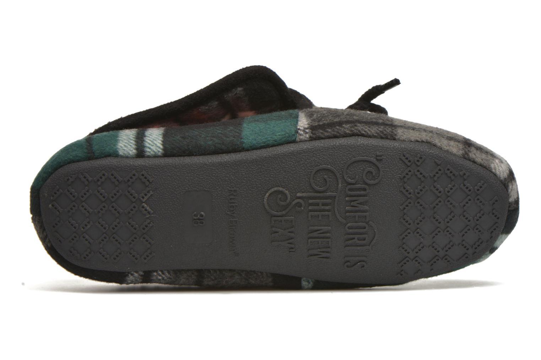 Pantofole Ruby Brown Sian Nero immagine dall'alto