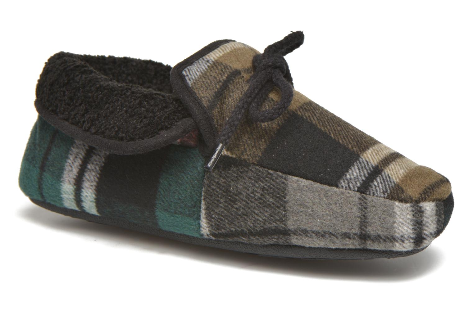 Slippers Ruby Brown Sian Black detailed view/ Pair view