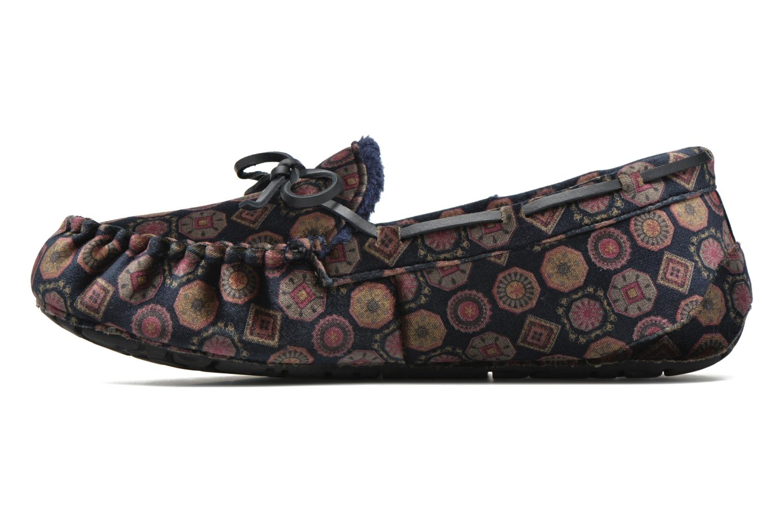 Chaussons Ruby Brown Velvet tie print moccasin Multicolore vue face